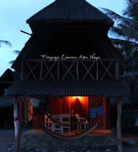 Rustic cabana on the beach  - Barra de Nexpa