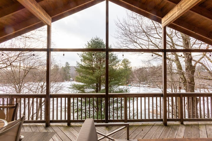 Maison Fougere: Catskills Waterfront-90 min to NYC