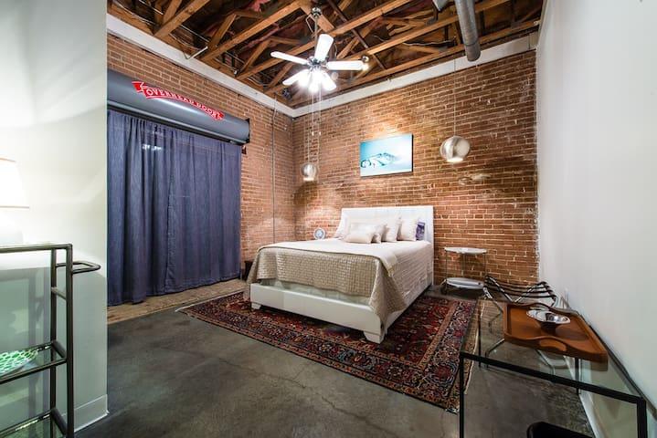 Bedroom/view toward sliding patio door