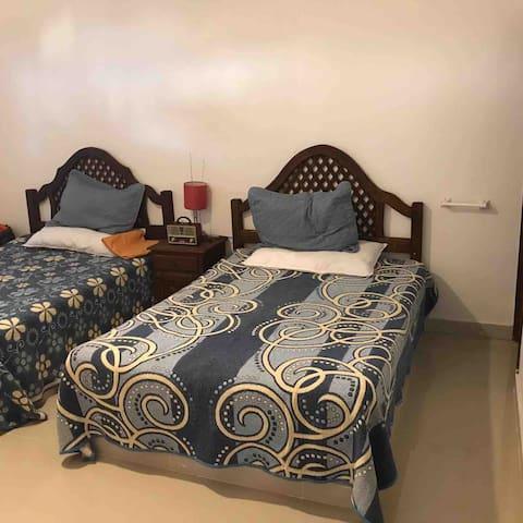 Downstairs poolside bedroom