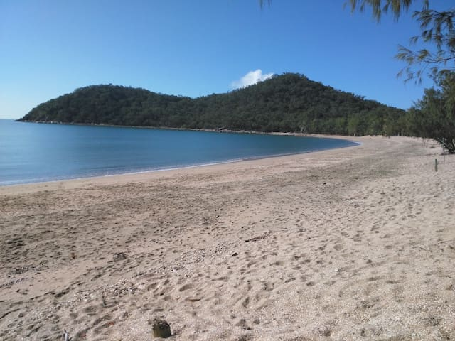 Enjoy the secluded, sandy beach with no crowds, 100m from villa.