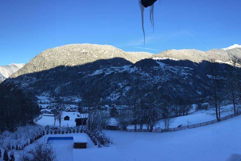 Winterpanorama ...vom Balkon unserer Meise