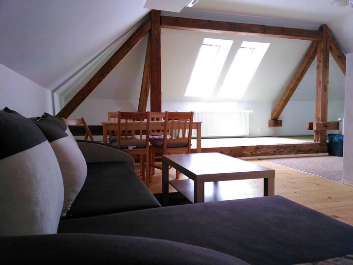 Apartmán so samostatným vchodom, výhľad na hory