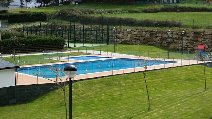 Apartamento Foz con piscina