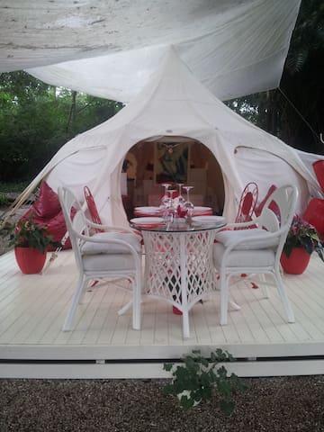 BYRON BAY GLAMPING.....Luxury Lotus Belle Tent