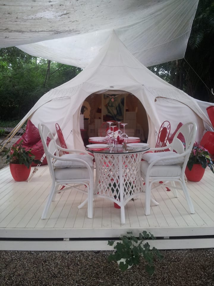 BYRON BAY GLAMPING.....Luxury Lotus Belle Tent