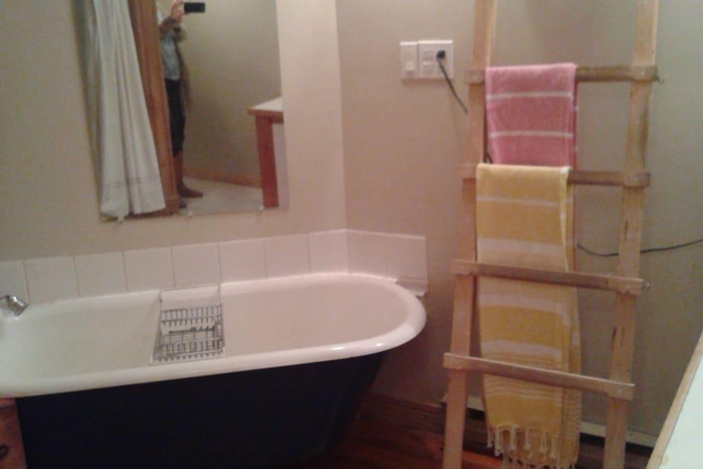 Sallede bain avec douche