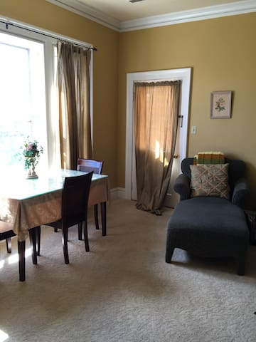 Suite with private deck three blocks from Main St.
