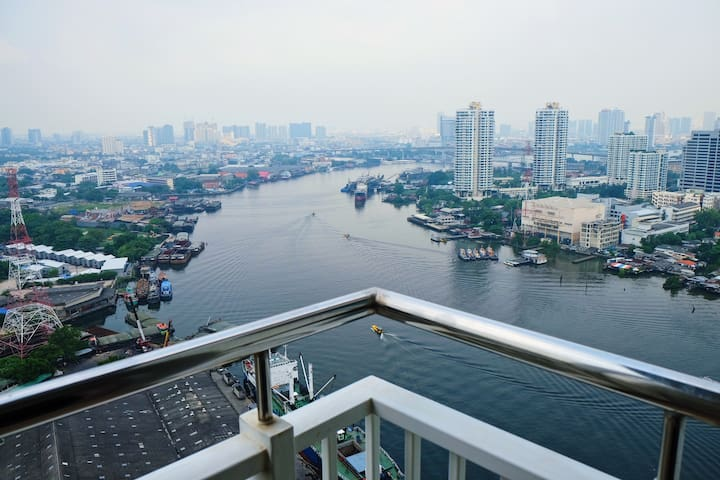 Chao Phraya River View, Panorama 1 BR Apartment