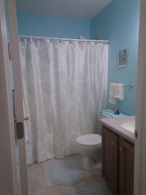 Nice clean bathroom. Fall semesters, share with very clean PSU student.