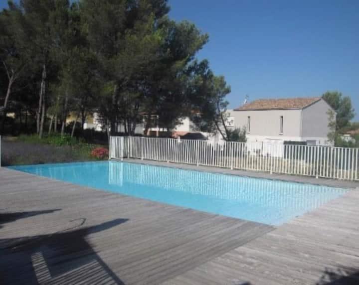 T2 au Crès avec piscine proche Montpellier/plage!