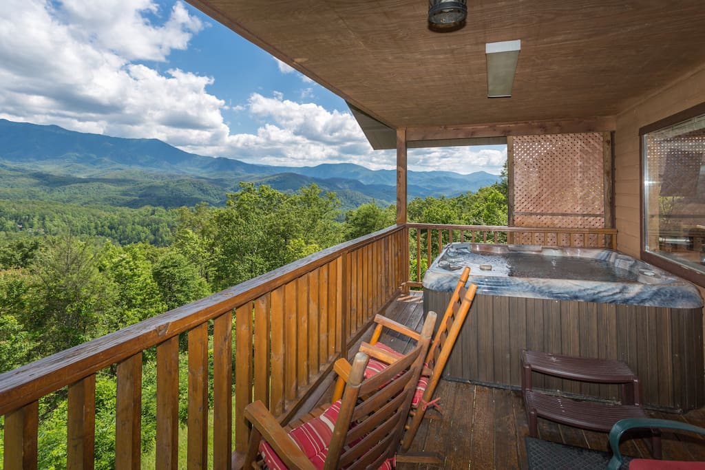 Enjoy The Private Deck, Hot Tub, Rockers, And Unreal Views!
