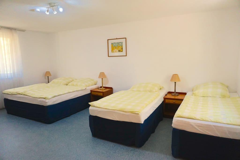 Schlafzimmer Bettenaufteilung