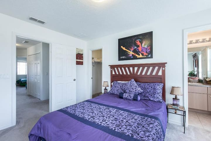 The Upstairs Master Bedroom Suite featuring Queen size Simmons Beautyrest Plush Pillowtop mattress... zzz