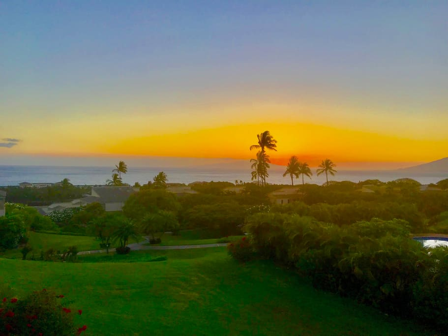 Maui Sunset from the Lanai