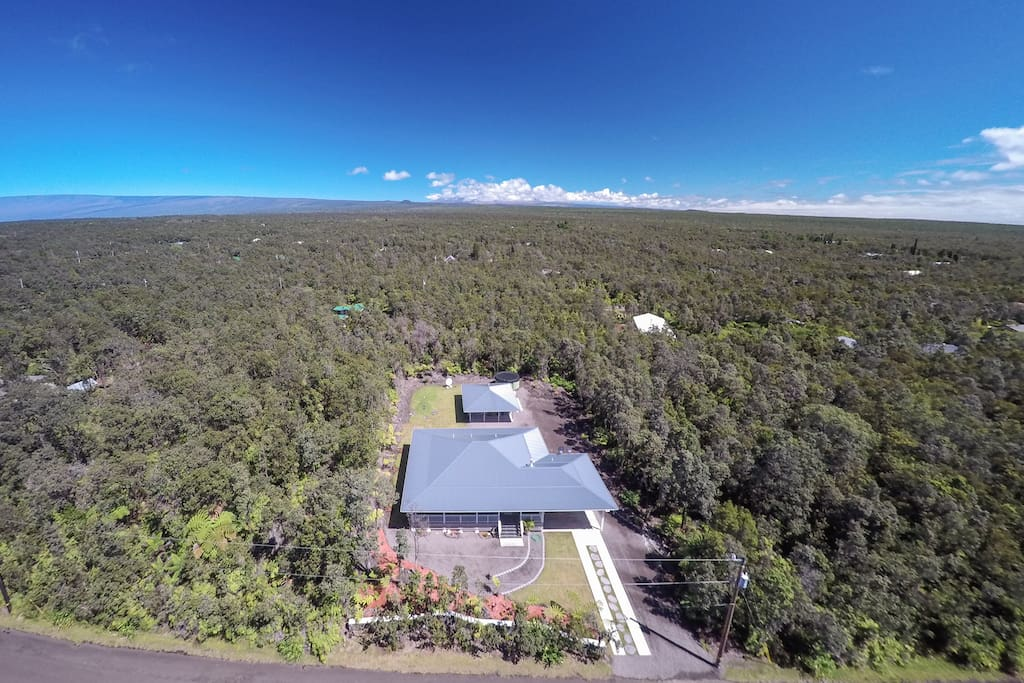 Aerial w/Mauna Loa in the Background.