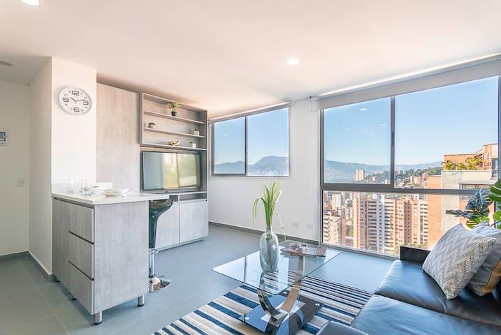 ★UNIQUE VIEW★AMAZING Apartment near LLERAS PARK