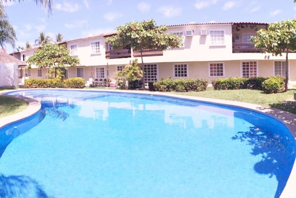 Nice big pool. Always clean and agreable temperatura.