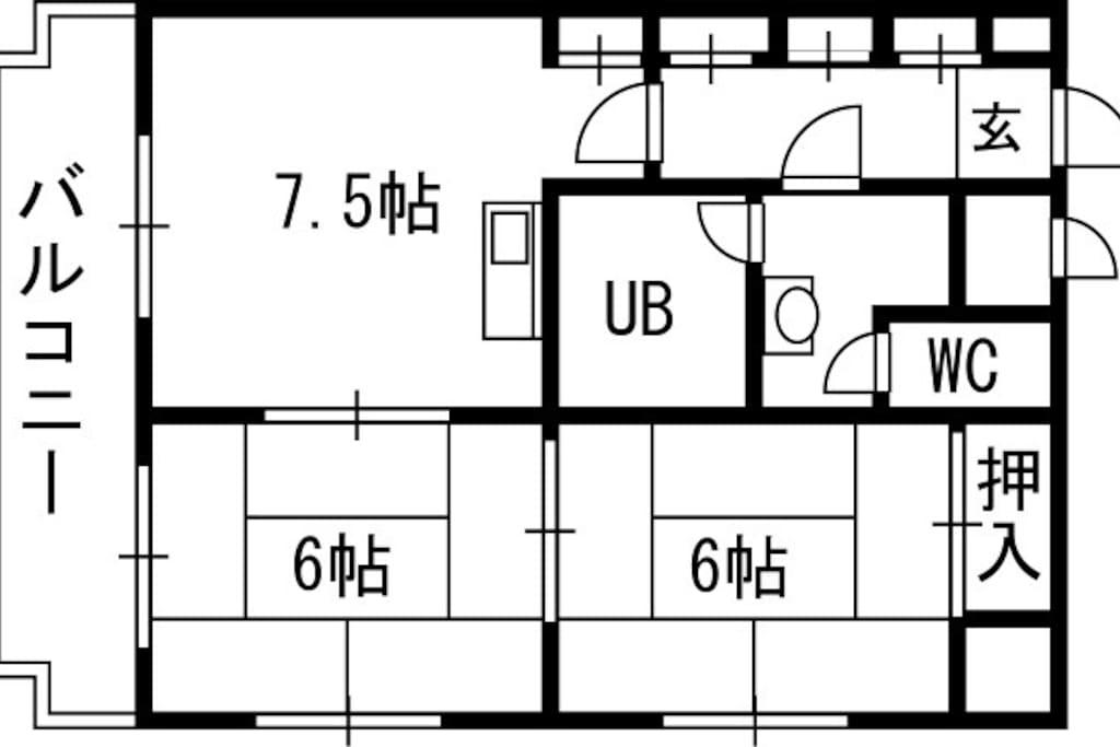 - 帖 means 3.3㎡ - Total space is 45.5㎡