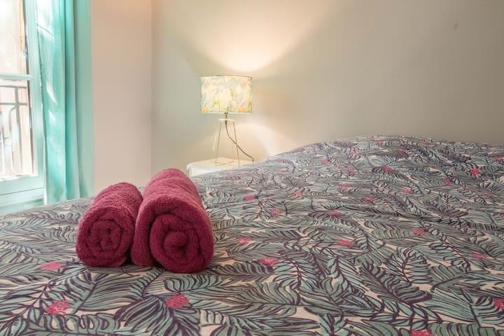 Chambre version lit double - Bedroom double bed configuration