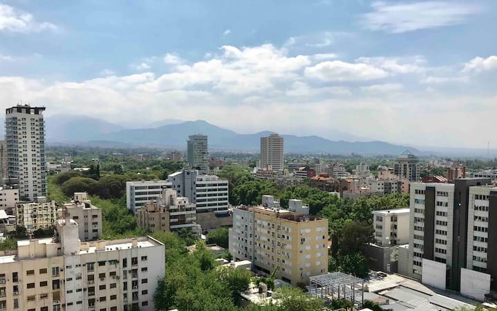 15th Floor Studio in Downtown Mendoza. Great View!