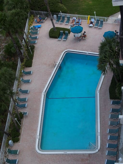 Swimming pool, from the balcony