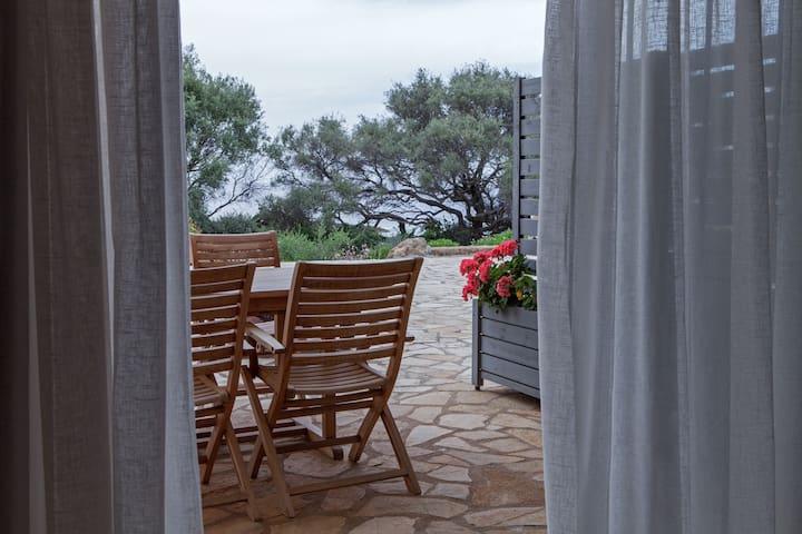 2bdrm house by the sea with great views - Marathopoli - Rumah