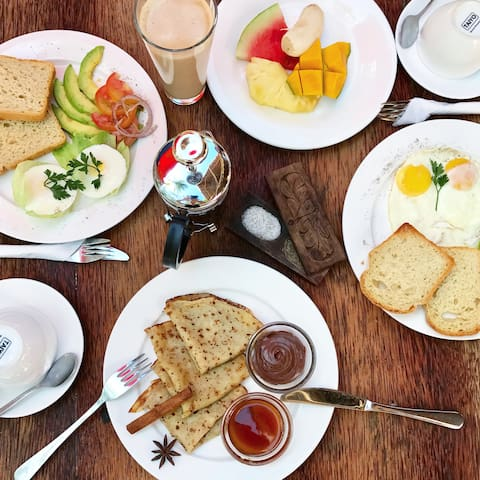 """our breakfast all as """"eat as much as you wish"""" formula"""