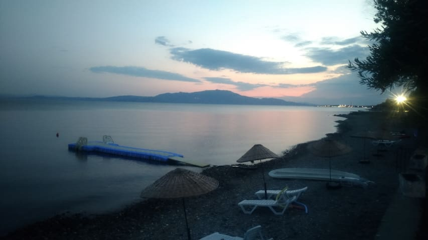 Villa by the sea with Lesvos view close to Assos.