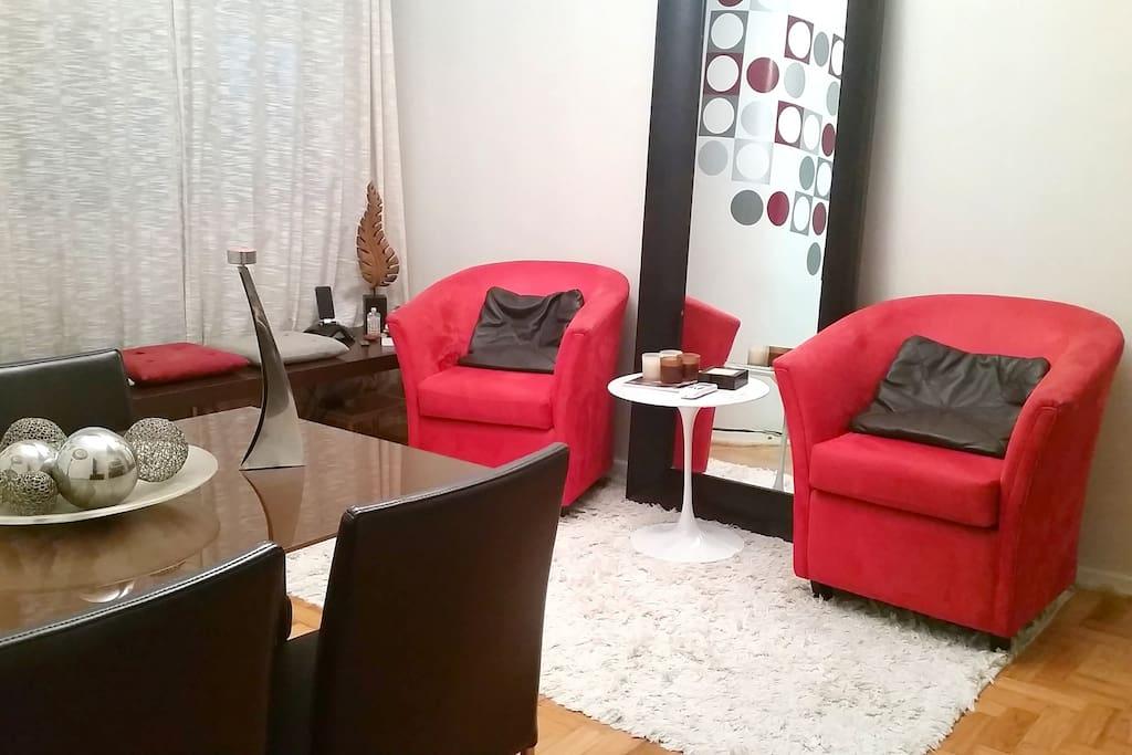 Sala com ar condicionado - Living room with air conditioning