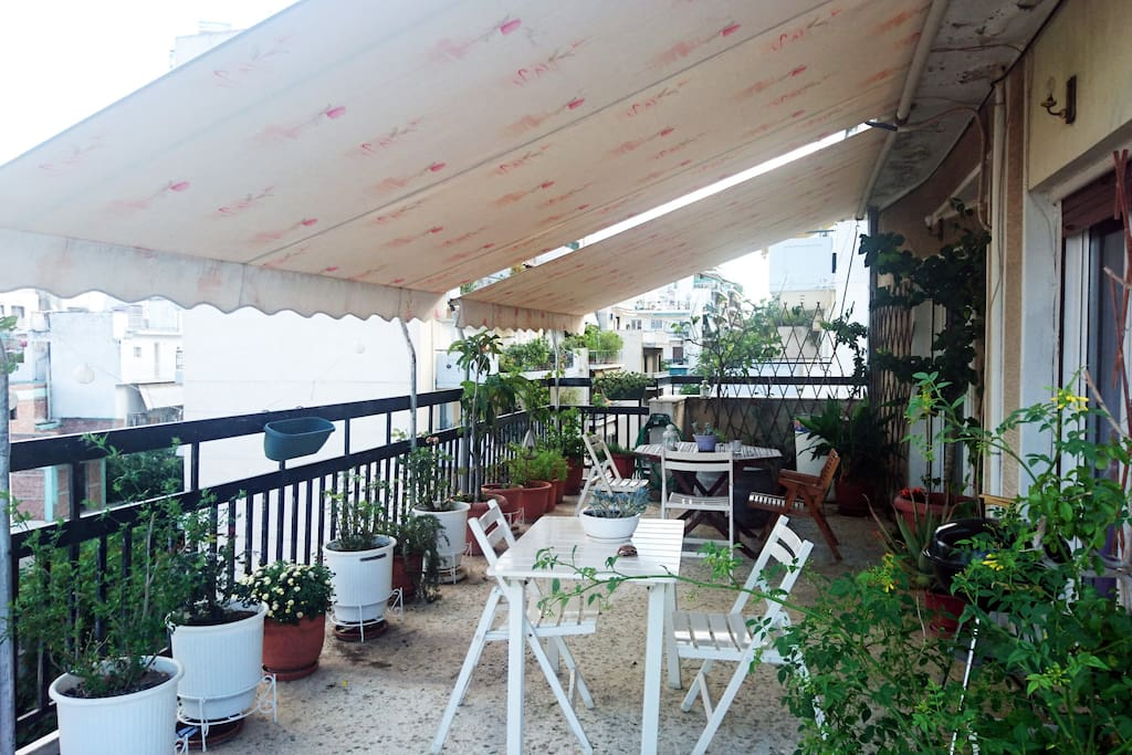 Large veranda with barbecue