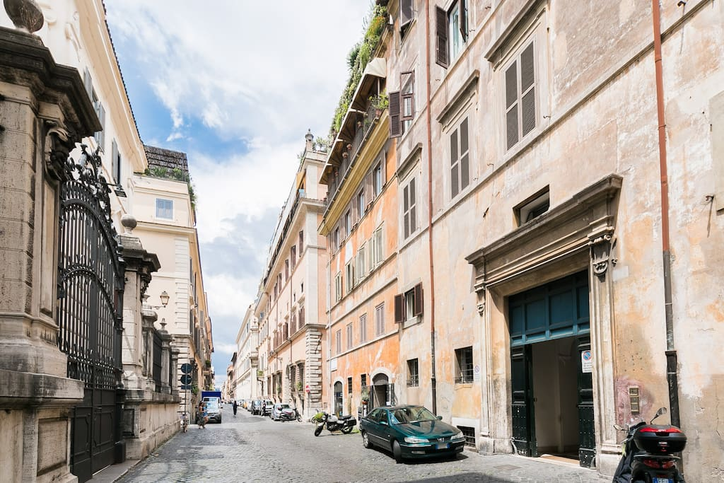 located in one of the most beautiful street of centre Rome