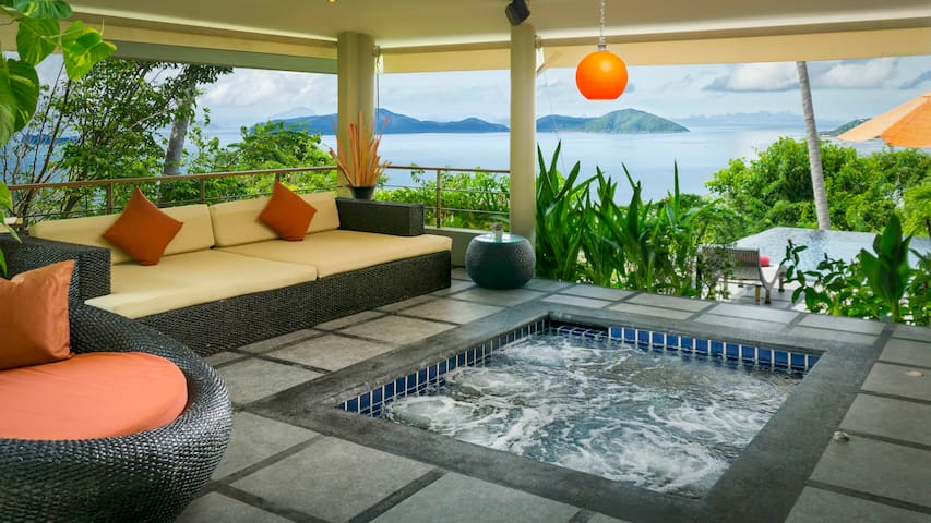 Exotic 1 Bed Villa with Pool, Jacuzzi & Free Car