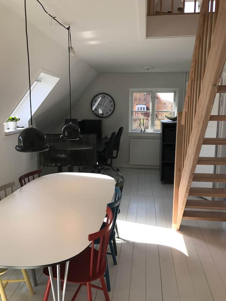 Charmerende Roskilde-lejlighed i centrum med have