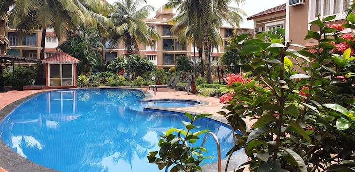 THE 3BHK DUPLEX DELUXE VILLA IN CANDOLIM WITH POOL