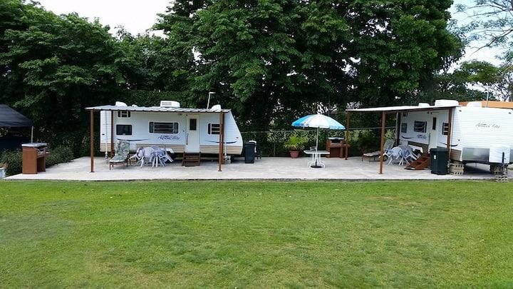 Beachfront RV Camper Trailers with Private Beach