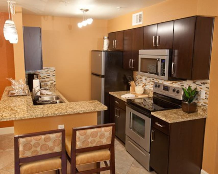 New kitchen with modern appliances