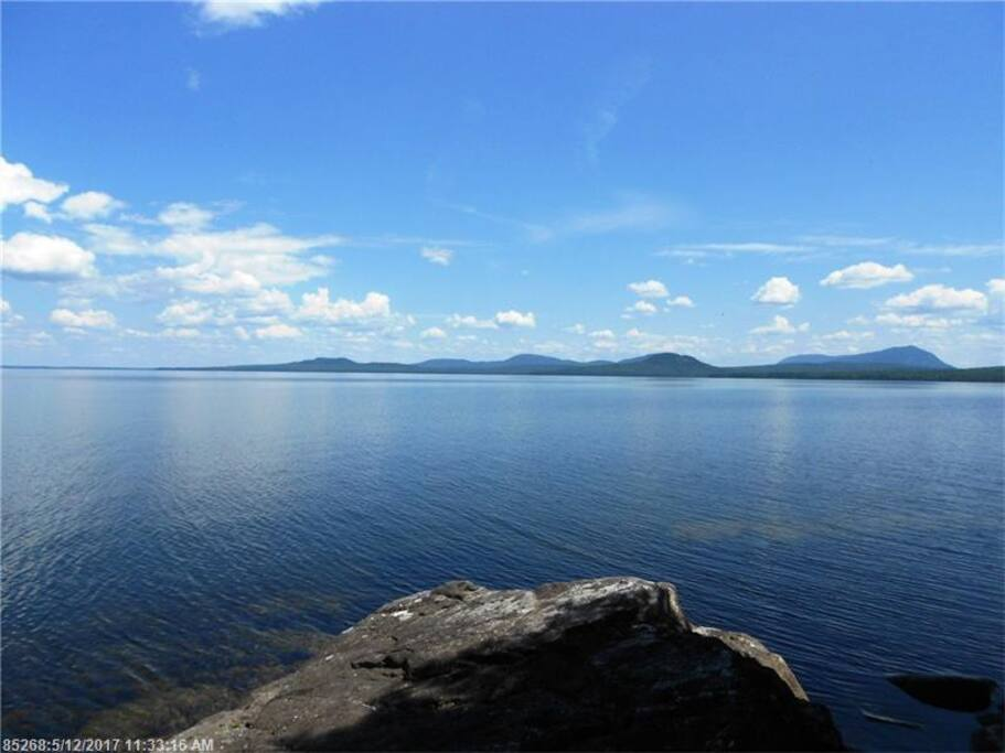 Amazing views of the mountains and Moosehead Lake