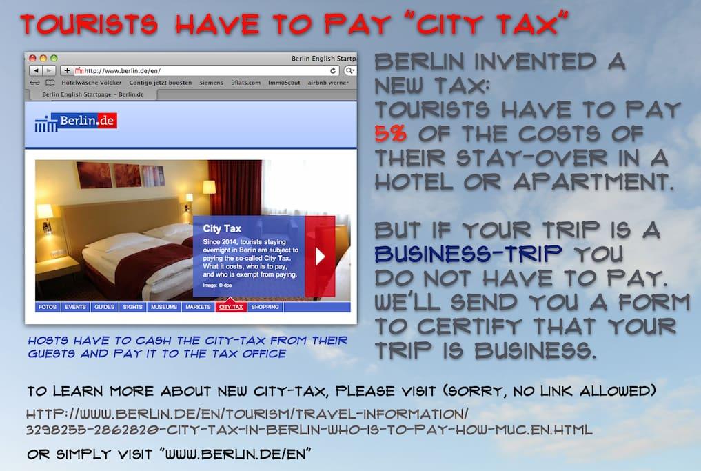 Tourism tax mandatory