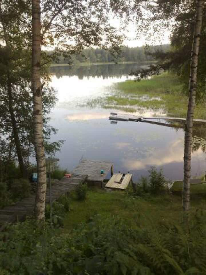 Beautiful villa by the lake with sauna