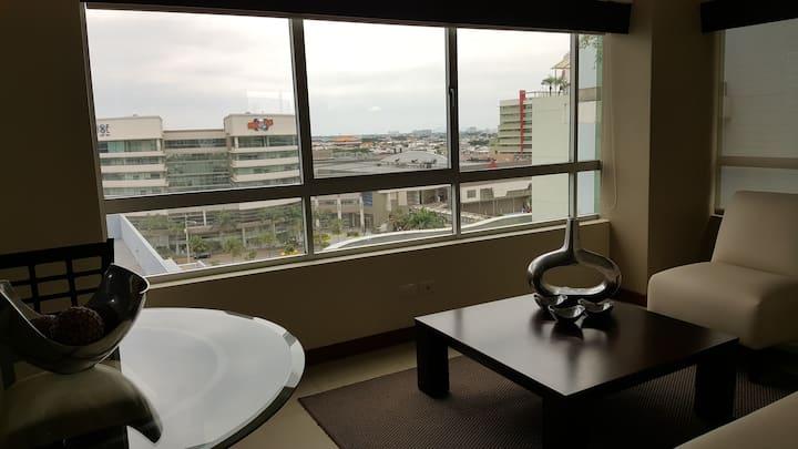 Espectacular Suite Hotelera con  vista a la Ciudad
