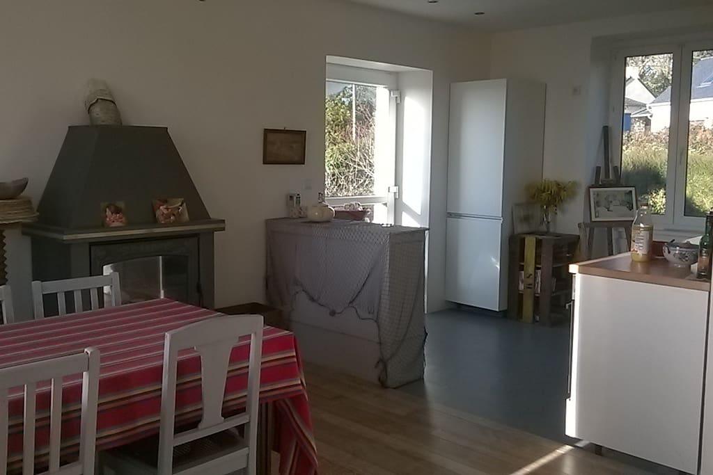 cuisine ouverte sur séjour