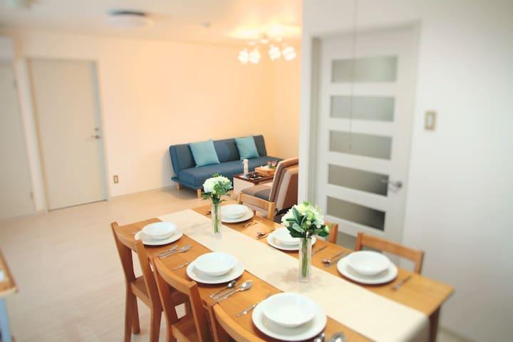 Namba 401, Cozy & Clean 45㎡, Max 8ppl, Cafebar