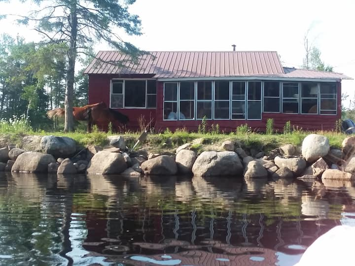 Private retreat,Raquette River , state land across