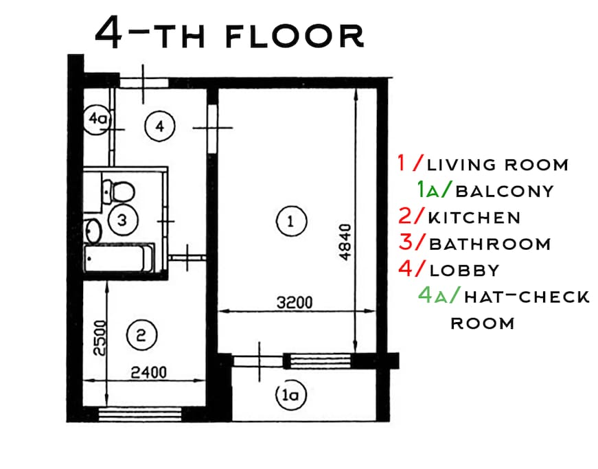 The apartment plan. Overview.