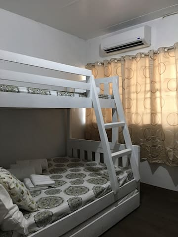Room 2 with aircon Bunk bed with pull-out