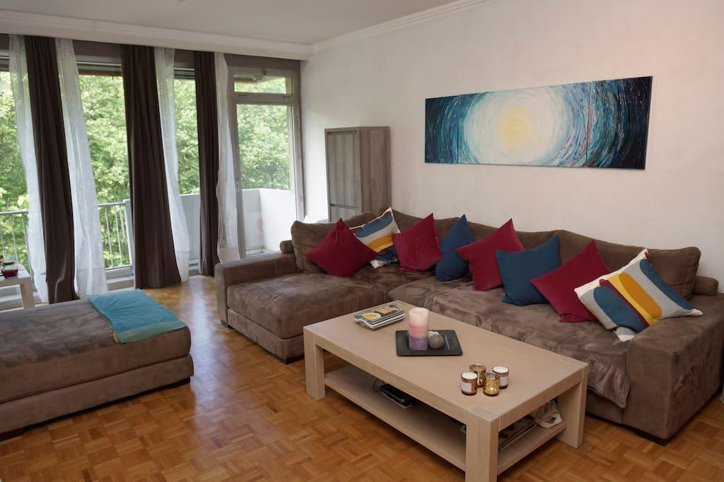 livingroom with terras