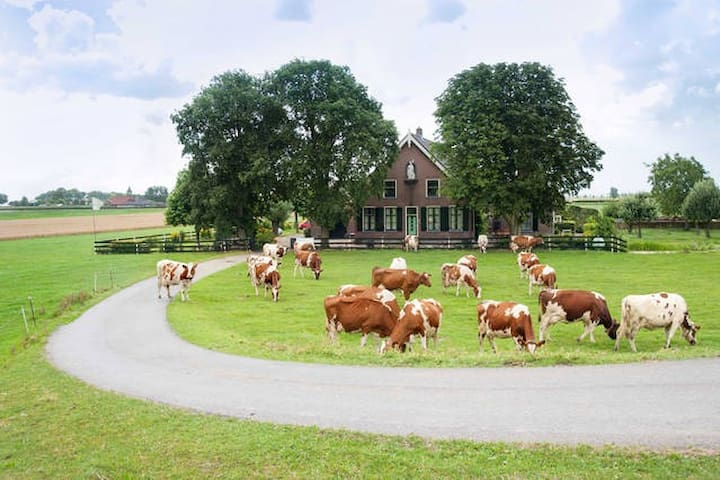 Luxury old farmhouse near Amsterdam 3bedrooms - Nieuwveen - Apartamento