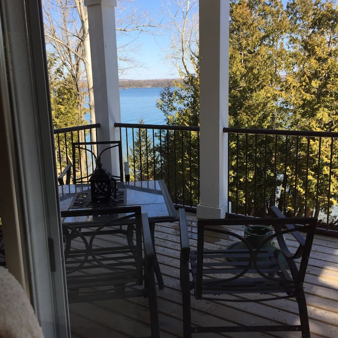 View from walkout covered patio