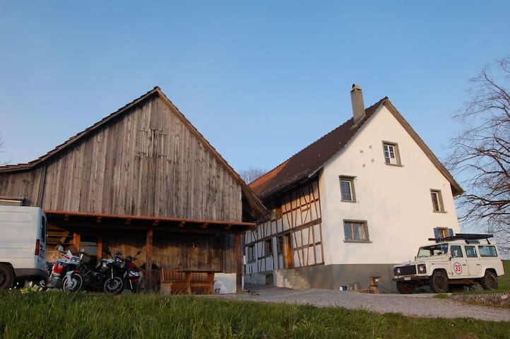 Stay in refurbished farmhouse with a lovely view